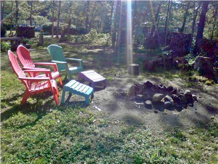 Sandwich, Forestdale Cape Cod vacation rental - Enjoy a camp fire in the backyard