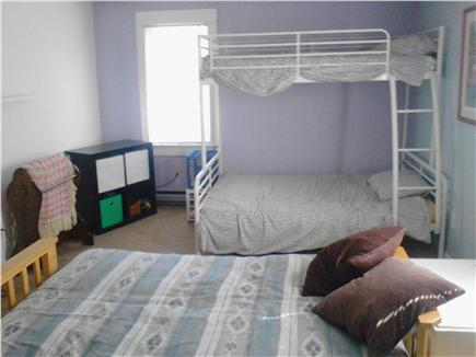 Sandwich, Forestdale Cape Cod vacation rental - Second bedroom, bunks w double on the bottom and futon, sleeps fi