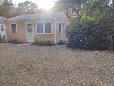 Wellfleet Cape Cod vacation rental - Front view with peek of our quiet neighbor's place.