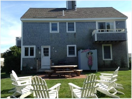 West Yarmouth Cape Cod vacation rental - Back Yard with Patio and Adirondack Chairs
