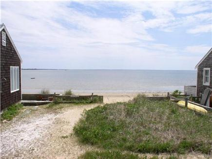 Wellfleet Cape Cod vacation rental - Just feet from cottage to bay beach