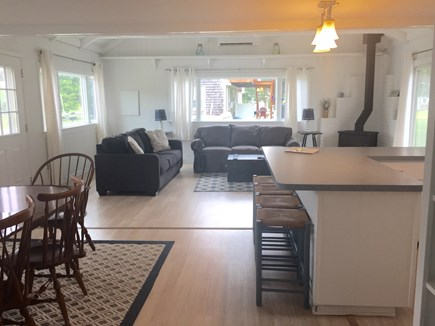 Barnstable Cape Cod vacation rental - Dining and living area from hallway