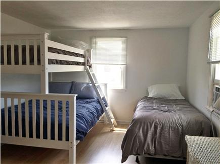Barnstable Cape Cod vacation rental - Bedroom 2: twin bed, plus a bunk bed, with twin over a full