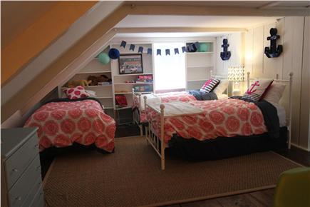 East Dennis Cape Cod vacation rental - Bedroom- Loft Area (3 twin beds and play area- second floor)