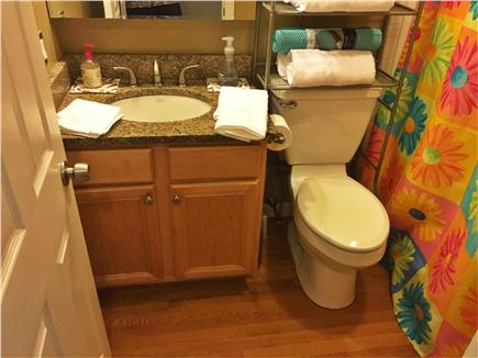 East Falmouth Cape Cod vacation rental - Bathroom with shower/tub combo