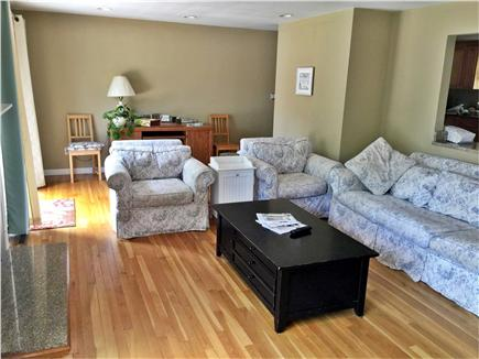 East Falmouth Cape Cod vacation rental - Family room leads to large deck