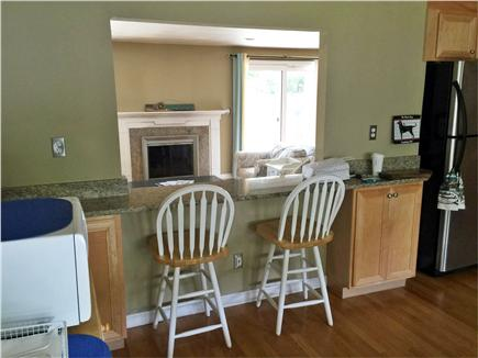 East Falmouth Cape Cod vacation rental - Bright kitchen with barstools