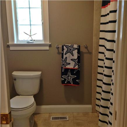 Seconsett Island, Mashpee Cape Cod vacation rental - Full Guest Bathroom w/Pocket Door for Separate Shower/Toilet area