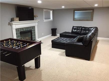 Seconsett Island, Mashpee Cape Cod vacation rental - 2nd Family Room w Foosball Table, TV with a Wii, and Air Hockey
