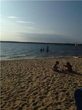 Seconsett Island, Mashpee Cape Cod vacation rental - Sand time!