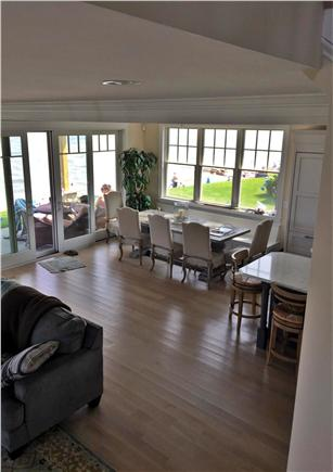 Mashpee Cape Cod vacation rental - Kitchen Table looking with 180 degree views
