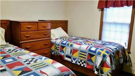 South Harwich Cape Cod vacation rental - Relax in our nautical themed twin bedroom.