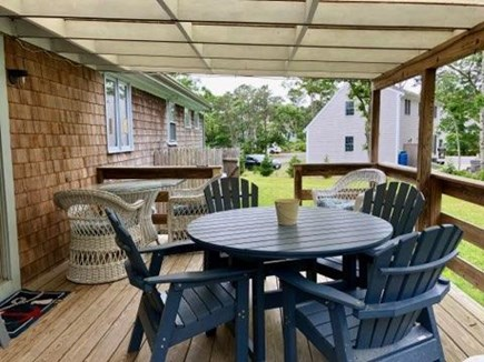 South Harwich Cape Cod vacation rental - Enjoy cooking on the gas grill and dining at our outside table.