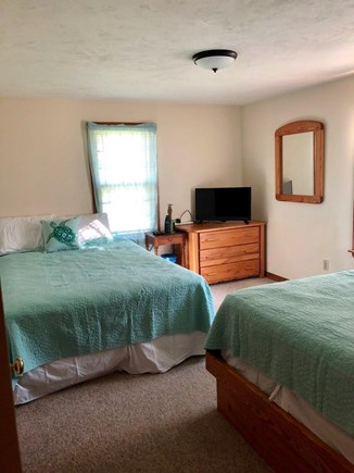 South Harwich Cape Cod vacation rental - 2 beds: 1 Queen, 1 Full with new Serta Pedic mattress.