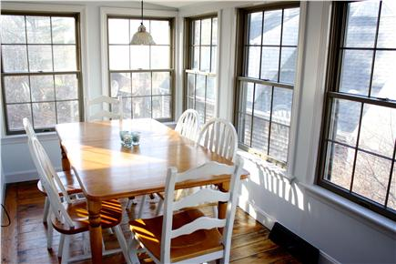 Harwich Cape Cod vacation rental - Window-wrapped dining room