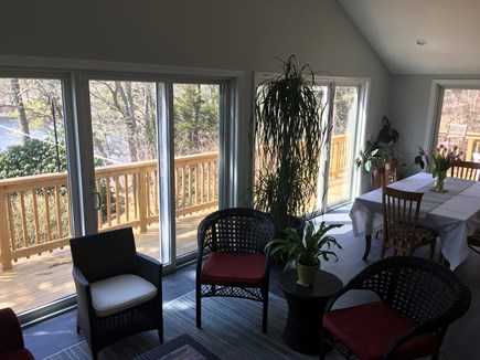 Chatham Cape Cod vacation rental - Enjoy the pond view from the new sunroom