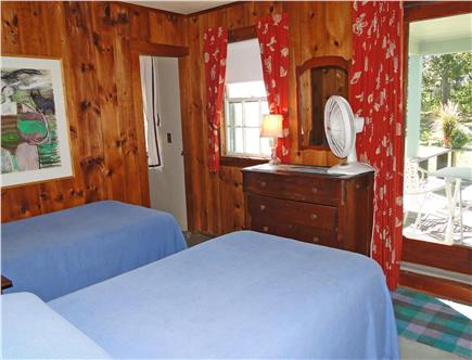 East Orleans Cape Cod vacation rental - Main floor twin bedroom, opens to deck