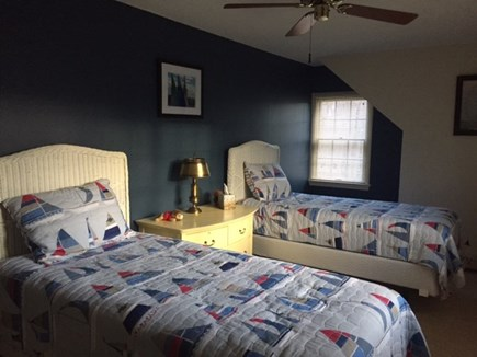 Eastham Cape Cod vacation rental - Upper level twins bedroom w A/C