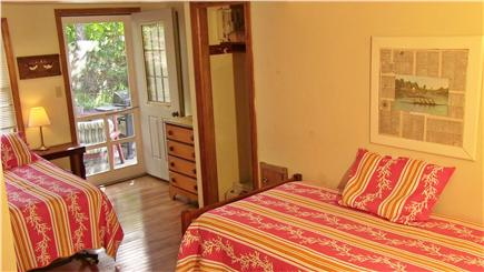 North Eastham Cape Cod vacation rental - Twin Bedroom opens to back deck.