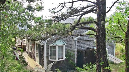 North Eastham Cape Cod vacation rental - Each bedroom opens to the lower deck for https://shade and quiet.
