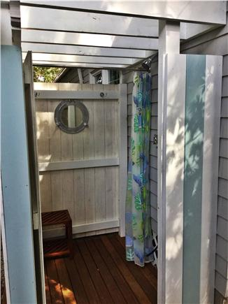 Falmouth Heights Cape Cod vacation rental - Outdoor shower with changing area