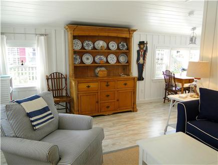 Falmouth Heights Cape Cod vacation rental - Hutch filled with games and puzzles
