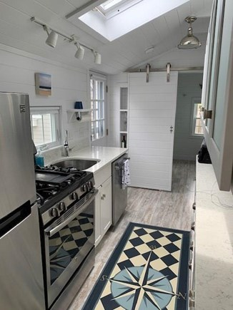 Falmouth Heights Cape Cod vacation rental - Skylight in galley kitchen