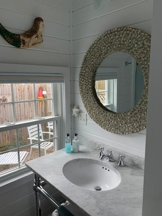 Falmouth Heights Cape Cod vacation rental - Spacious bathroom with walk in shower and wall heater