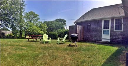 East Orleans Cape Cod vacation rental - Backyard for grilling, eating and relaxing. Outdoor shower too!