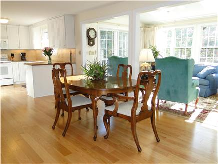 Eastham Cape Cod vacation rental - Open living area with hardwood floors and skylights