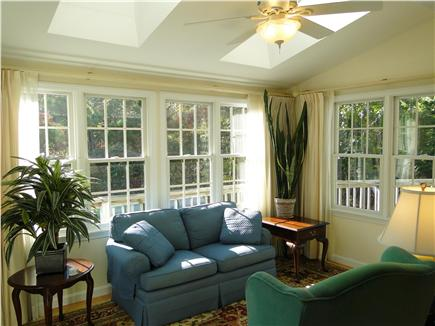 Eastham Cape Cod vacation rental - Vaulted ceilings with skylights warm this comfy sun room