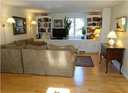 Eastham Cape Cod vacation rental - Living room with sectional and flat screen TV