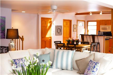 Harwich Port Cape Cod vacation rental - Living room to kitchen