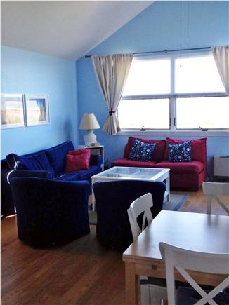 Truro Cape Cod vacation rental - Dining area into living area