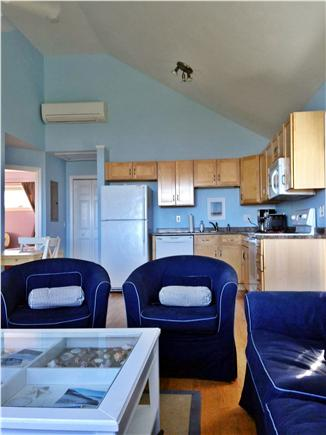 Truro Cape Cod vacation rental - Comfortable and spacious living room into kitchen