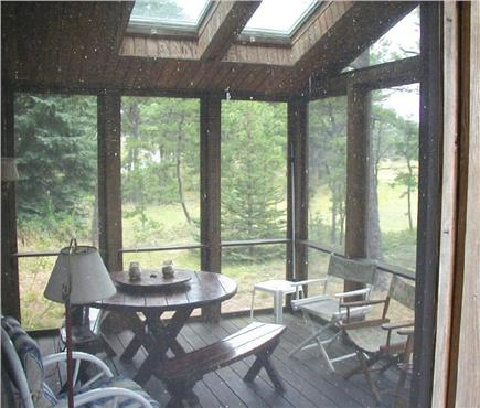 S. Wellfleet Cape Cod vacation rental - Screened in porch off the deck