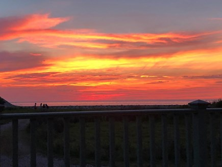 Woods Hole Cape Cod vacation rental - Sunset over Buzzards Bay in front of house