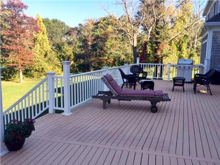 Dennis Cape Cod vacation rental - Backyard deck
