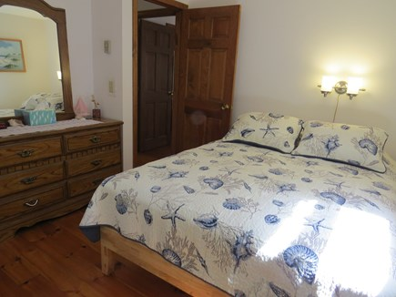 North Eastham Cape Cod vacation rental - 1st Mates First Floor Queen Size Bed View Looking Out
