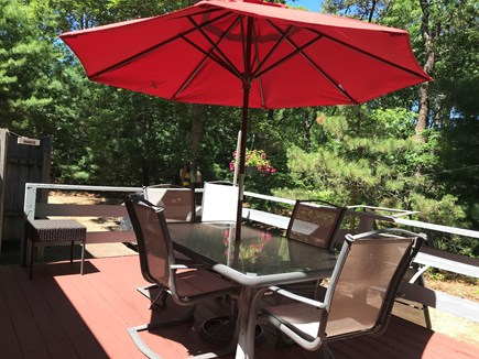 North Eastham Cape Cod vacation rental - Rear deck looks out to a very private yard woodland setting