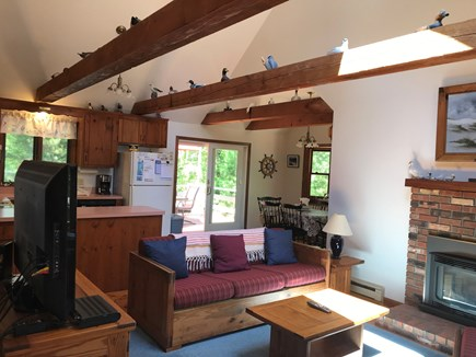 North Eastham Cape Cod vacation rental - Open floor living room, kitchen