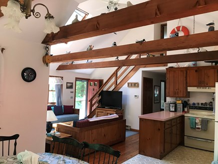 North Eastham Cape Cod vacation rental - Open floor dining area seating for 6, living room, kitchen