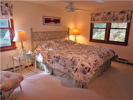 North Eastham Cape Cod vacation rental - Second Floor Master Bedroom, King Size Bed with Ceiling Fan