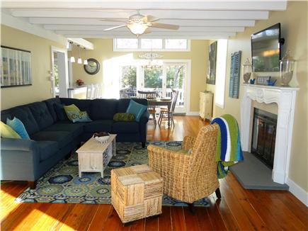 West Harwich Cape Cod vacation rental - Living room opens to dining room