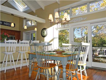 West Harwich Cape Cod vacation rental - Dining area seats 8, sliders to back deck