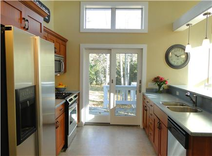 West Harwich Cape Cod vacation rental - Cathedral ceilings in kitchen, all new appliances