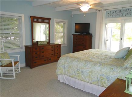 West Harwich Cape Cod vacation rental - Large first floor master suite w/king bed, bath, slider to deck