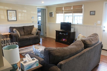 Dennis Cape Cod vacation rental - Living room (with electric fireplace)