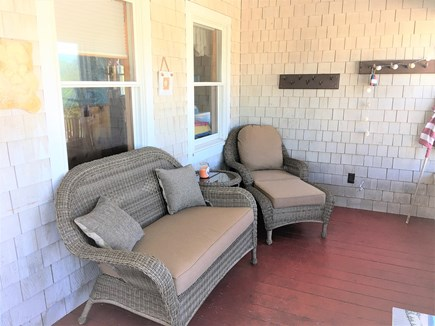 West Dennis Cape Cod vacation rental - New wicker front porch furniture,New wicker front porch furniture