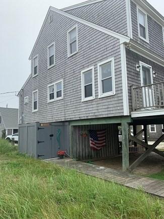 West Dennis Cape Cod vacation rental - Large corner lot outside shower side of house
